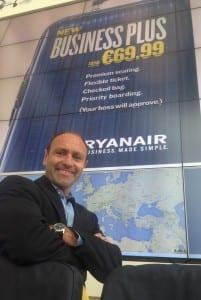 Kenny Jacobs er Ryanairs markedssjef (ryanair.com