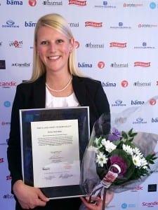 Helene Hallre ble i 2014 kåret til årets unge leder av HSMAI (foto: Rezidor)
