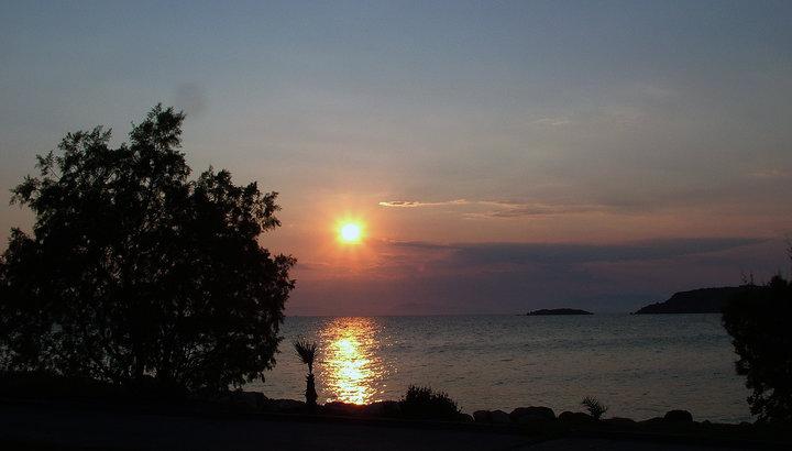 Hellas - Grekenland - Solnedgang