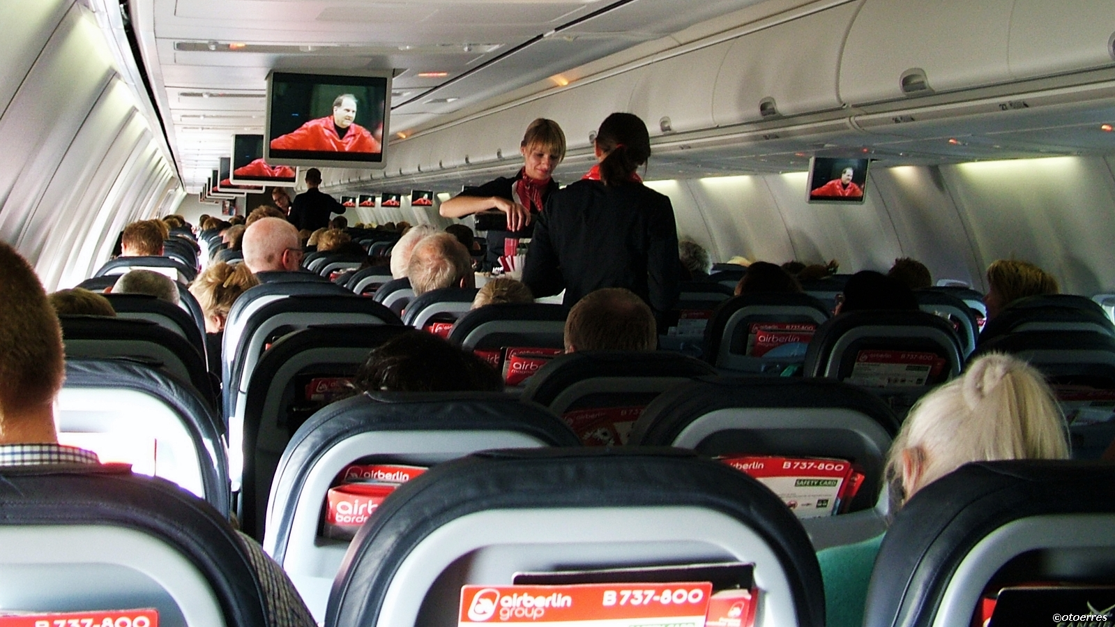 airberlin - kabin - servering -boeing 737
