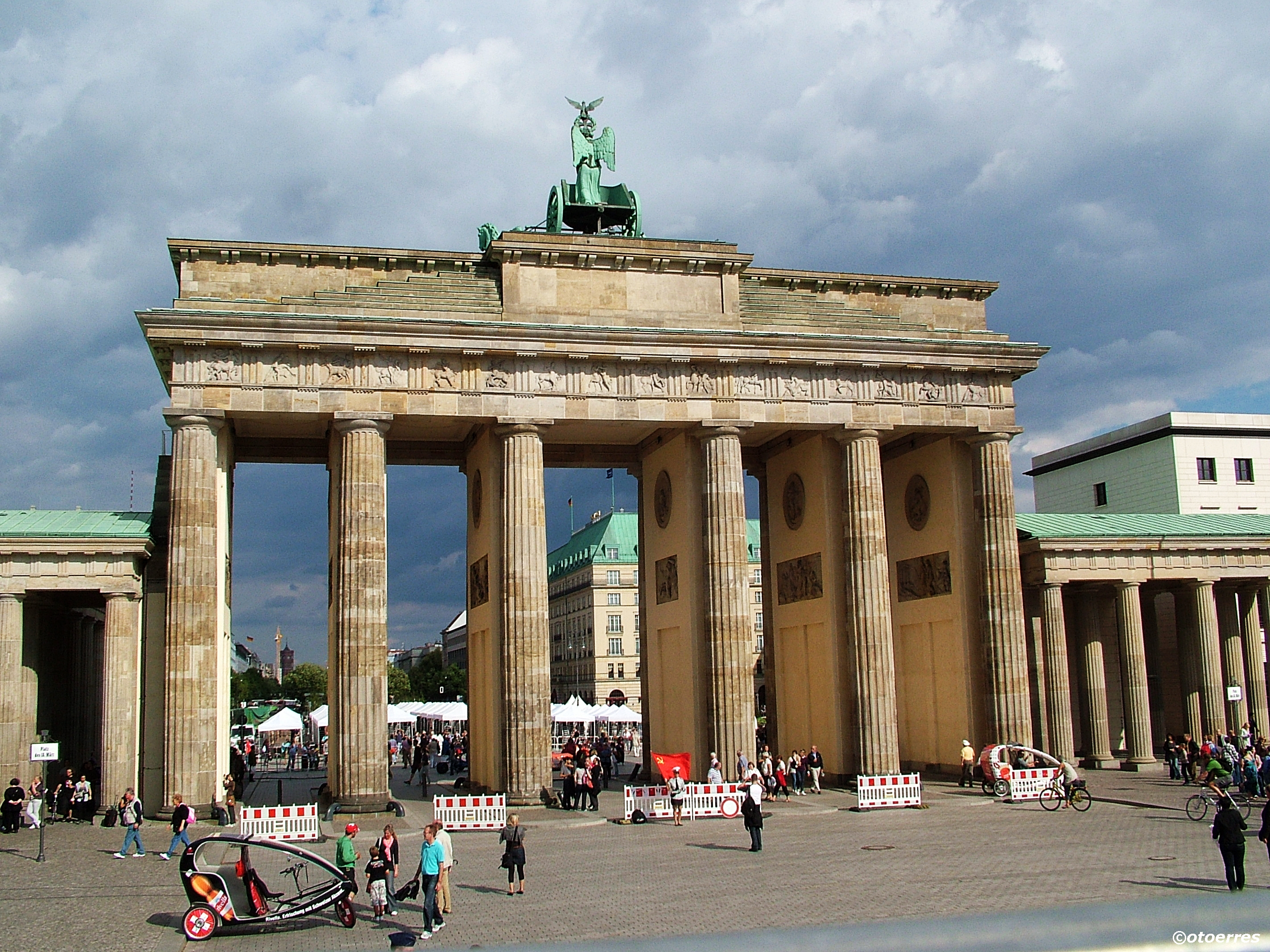 Brandenburger Tor - Muren - Berlin