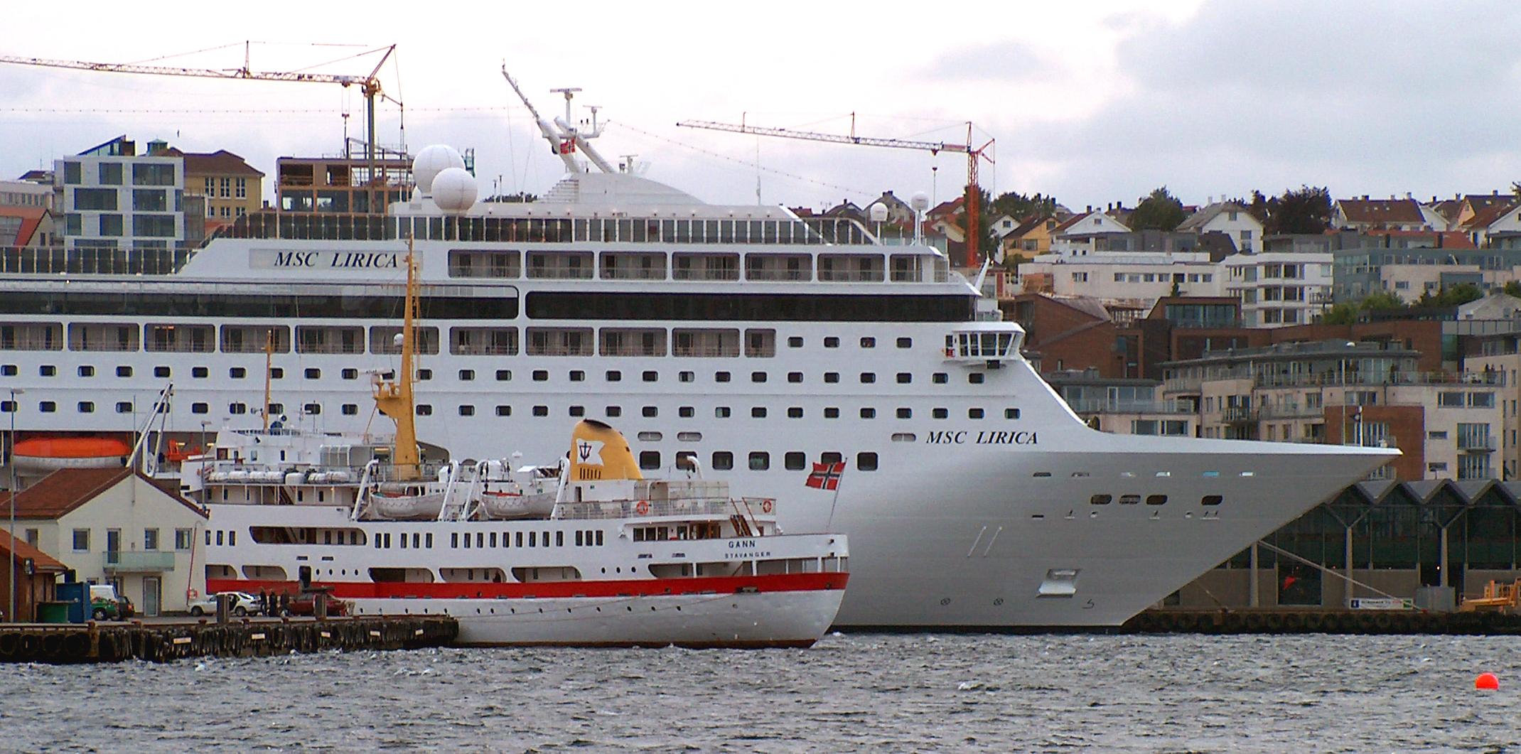 MSC Lirica - Cruiseskip - Stavanger havn