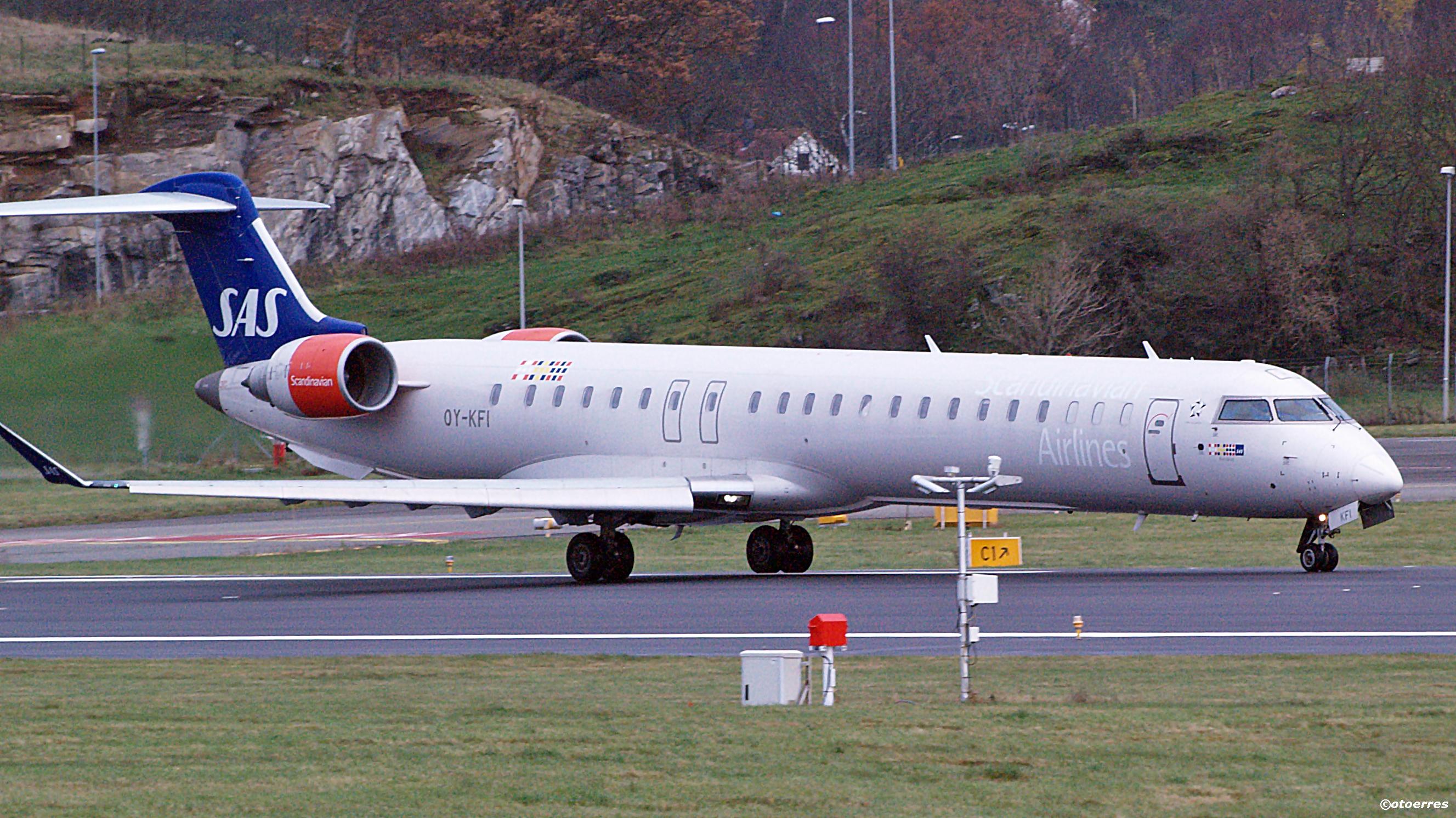 SAS - Bombardier CRJ 900 - Sola - 2014