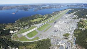 Panoramabildet av Bergen lufthavn Flesland (Nils Olav Mevatne / Foto: Avinor)