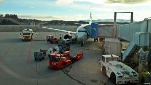 Bodø Lufthavn er et viktig knutepunkt for SAS (bildet) og Norwegian, samt Widerøe som har sin operative hovedbase på flyplassen  (©otoerres)