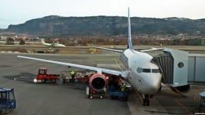SAS Boeing 737 på Trondheim lufthavn Værnes (©otoerres)