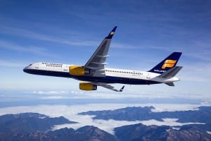 Icelandair Boeing 757-200 (photographed from Clay Lacy Astrovision Learjet)