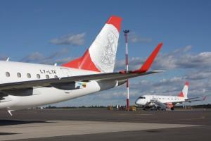 Air Lituanica fløy første gang i juni 2013. Knappe to år senere var det slutt for selskapet (AL/Facebook)