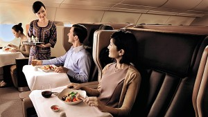 Singapore Airlines fine dining (SIA)