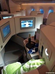 Finnairs A 350 XWB har plass til 46 passasjerer i Business Class, 43 i Economy Comfort og 208 på vanlig økonomiklasse (©otoerres)