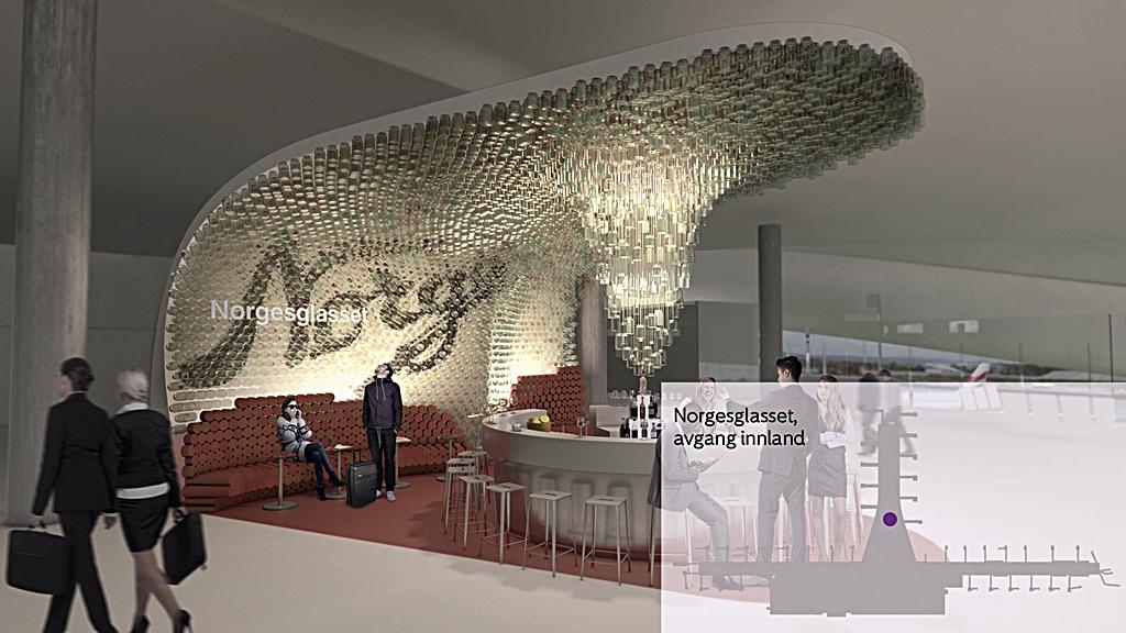 norgesglasset kart Baren Norgesglasset åpner på Oslo lufthavn | Dfly norgesglasset kart
