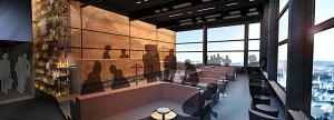 Snøhetta har tegnet nye Summit Bar på toppen av Radisson Blu Scandinavia Hotel i Oslo (Rezidor/Snøhetta)