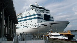 Den siste Englandsbåten var DFDS sin Queen of Scandinavia. Seilingene stanset høsten 2008 (©otoerres)