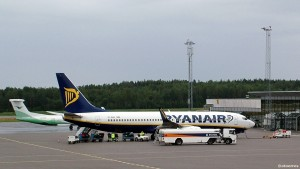 Ryanairs Boeing 737-800 på Torp Sandefjord lufthavn  (©otoerres)