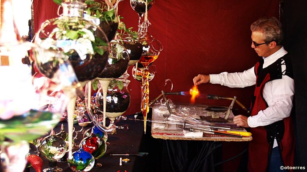 Spania - glassblåser - Middelaldermarked