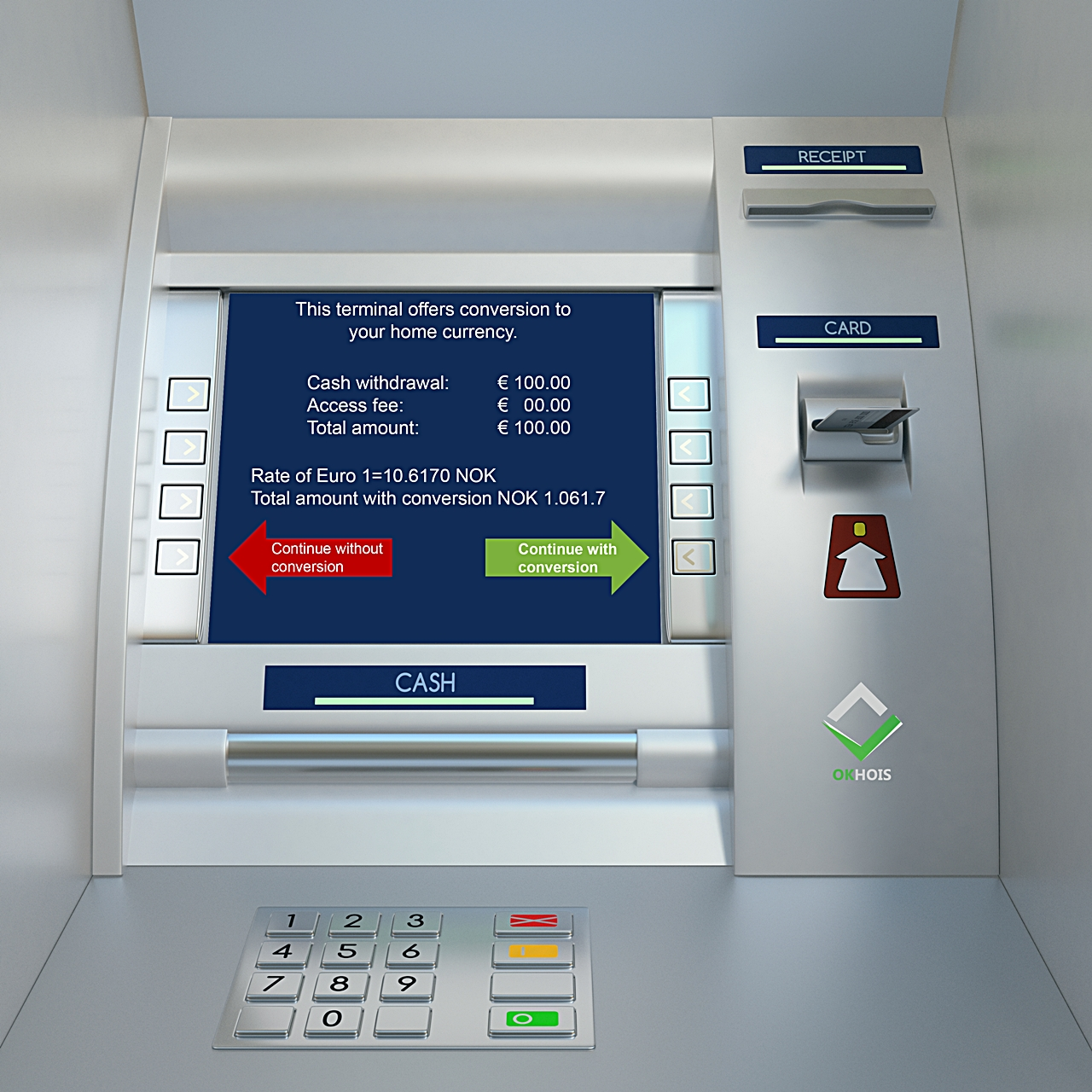 Atm machine - minibank - utlandet - Sparebanken Vest