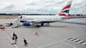 BA Airbus A 318 at London City Airport (ba.com)