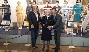 Kjell-Åke Westin, flygplatsdirektör på Arlanda, Reidun Boethius och Anders Wahlström, Head of Sales på SAS (Foto: Joakim Knutsson)