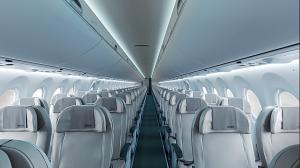 airBaltic Bombardier CS 300 vil få plass til 148 passasjerer mot 120 til 144 på selskapets eldre Boeing 737- maskiner (photosource: airbaltic/bombardier)