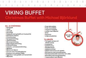 Meny Michael Björklunds julbord 2016 (screenshot) Se länk för att nedlasta hela menyn längre ned på sidan
