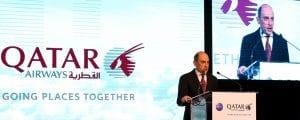 Qatar Airways toppsjef Akbar Al Baker, under pressekonferansen i Marokko (Photo: QA)