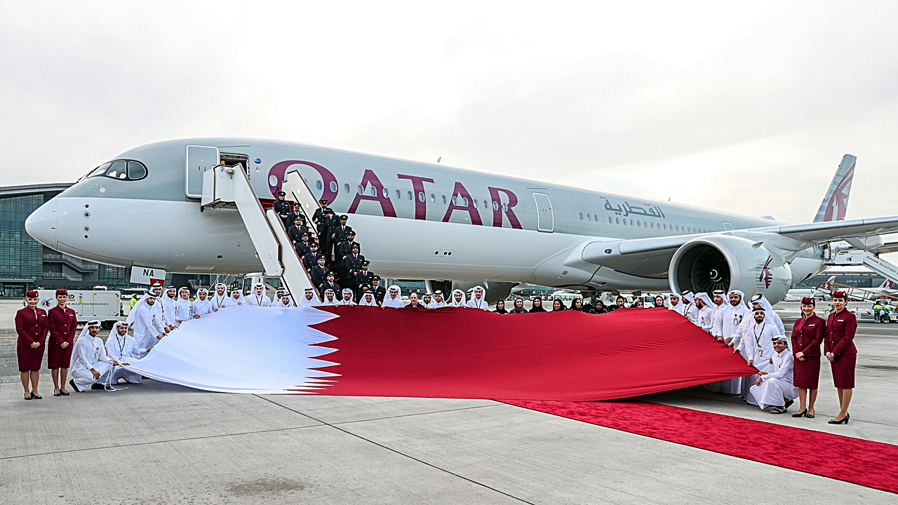 Qatar Airways' A350-1000 Touches Down in Doha, Marking Another ...