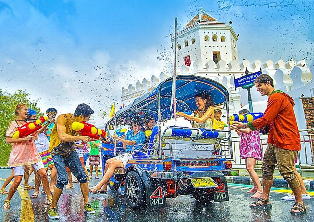 Bangkok - Thailand - Songkran festival - nyttårsfeiring - Thailand