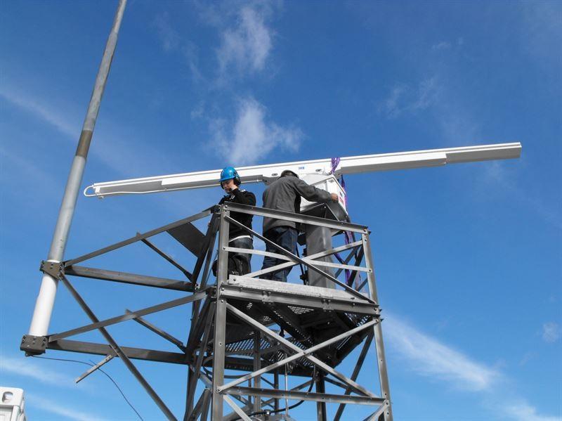 Radar - montering - installasjon  - Kongsberg