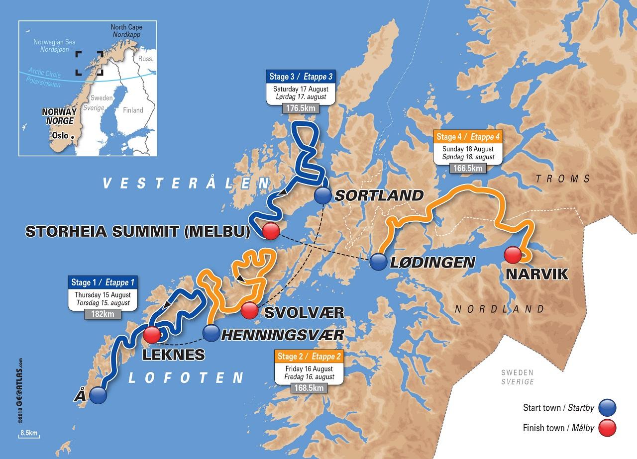 Artic Race Of Norway 2019 Tilbake Til Lofoten Og Vesteralen Avgjores I Narvik Dfly