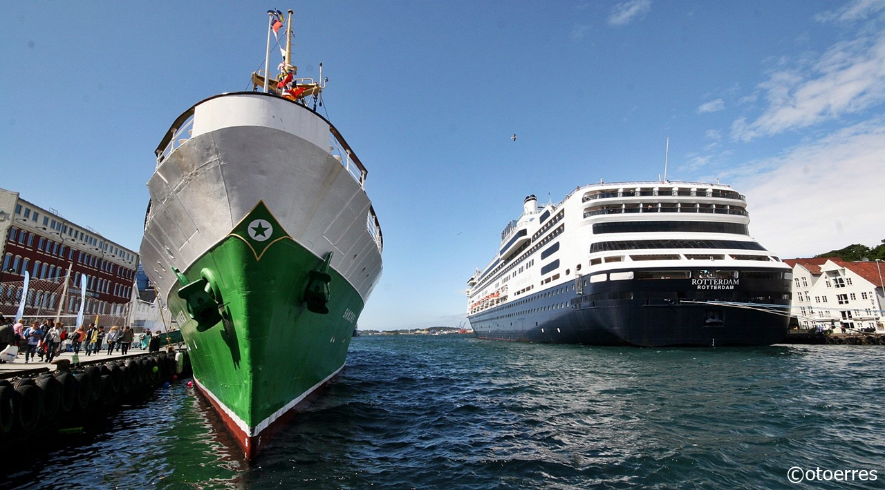 Skip - Vågen - Stavanger - MS Sandnes - MS Rotterdam