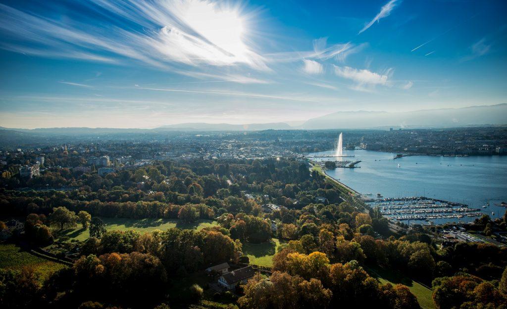 Geneve - Lac Leman - Genfersjøen - Oversikt  - Sveits