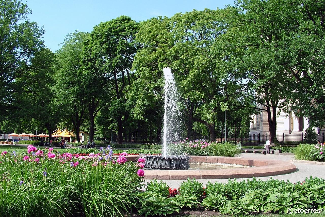 Vannfontene - byparken - Riga - Latvia