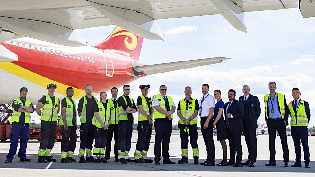 Avinor - Oslo lufthavn - Gardermoen - Hainan Airlines - Airbus A 330-300 - Ruteåpning - Oslo - Bejing - mai 2019