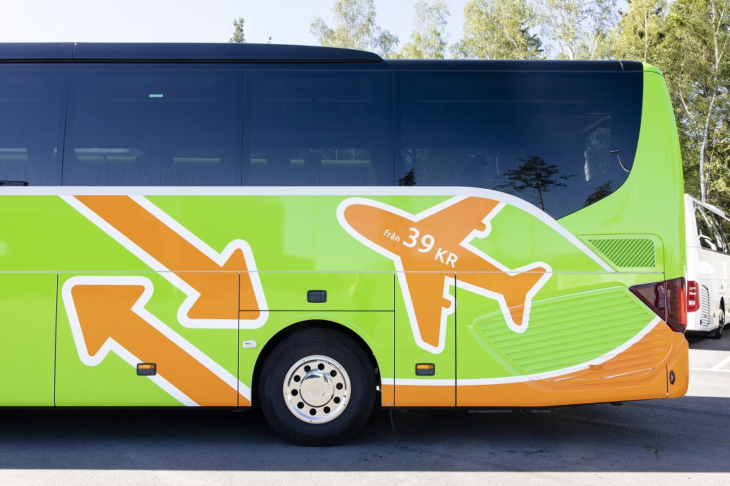Flixbus - flybuss - stockholm - Arlanda - juni 2019