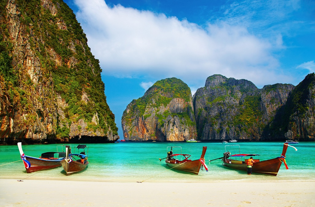Ticket - Tropisk strand -Maya Bay - Thailand