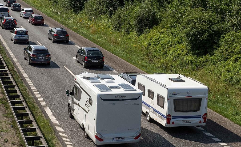 Motorvei - sommertrafikk
