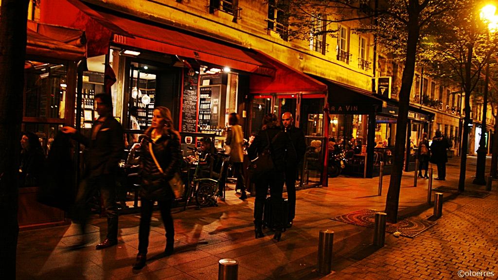 Paris - gaterestauranter - Frankrike