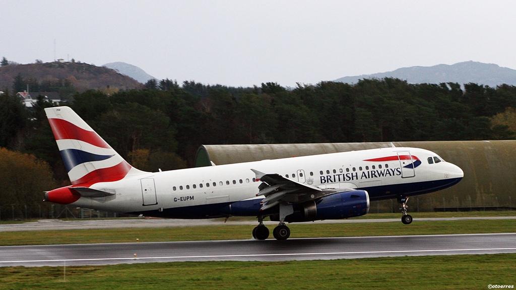 British Airways - airbus A 319 - Stavanger lufthavn Sola