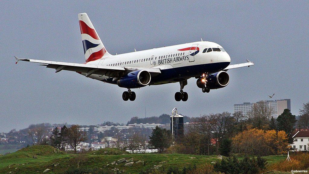 British Airways - Airbus A 319/320 - Stavanger lufthavn Sola