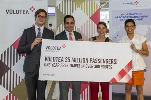 Volotea - flyselskap - flypassasjer nr. 25 millioner - Nantes - Frankrike