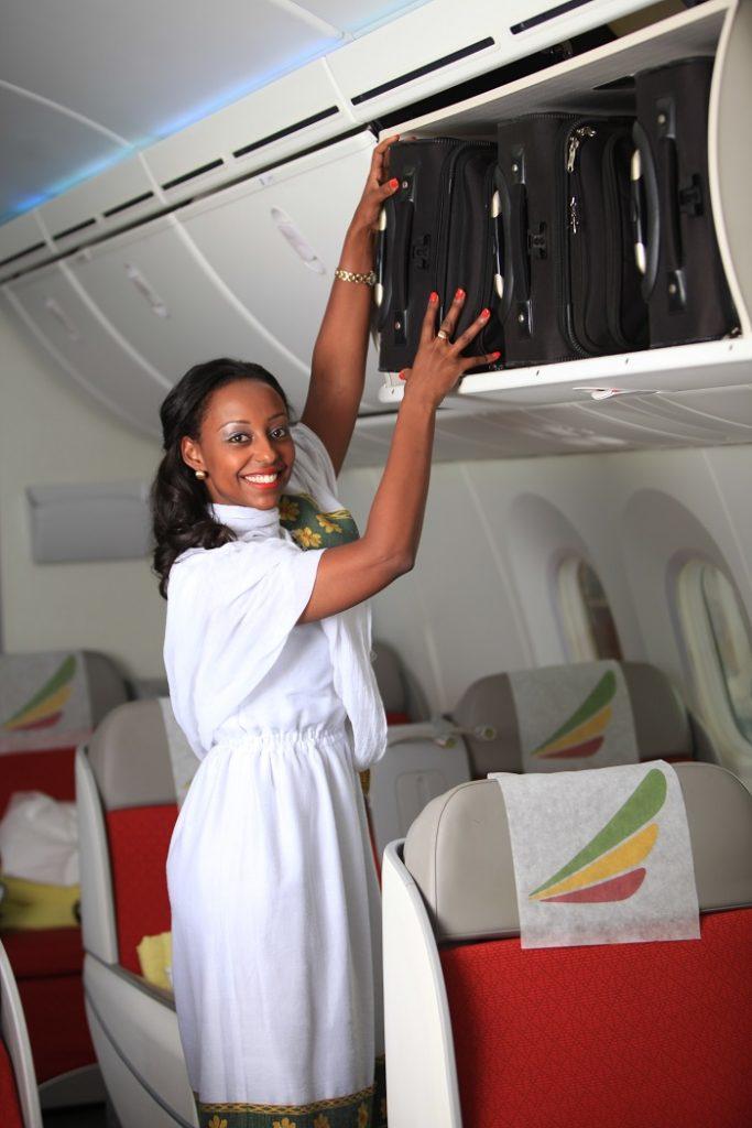 Flyvertinne - Kabin - Ethiopian Airlines