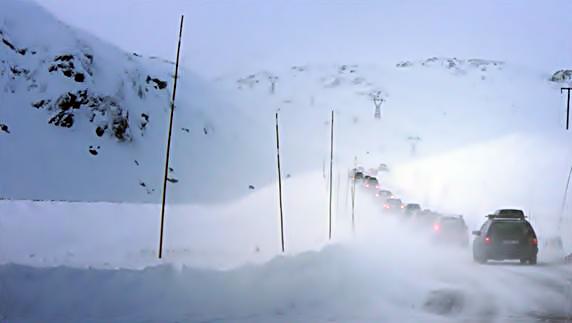 NAF - Bilkjøring - Snøfokk - Fjellovergang - Vinterføre