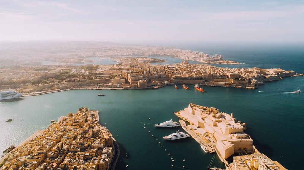 Malta - tre byer - Valletta - havnen