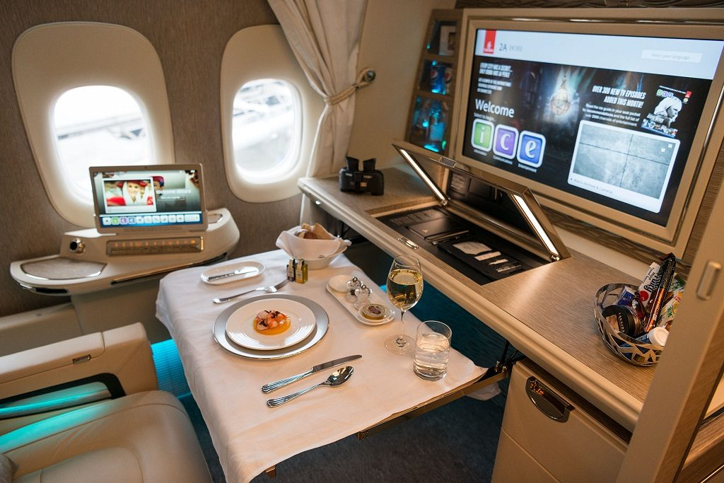 Emirates - First Class - Suite -- Boeing 777-300ER