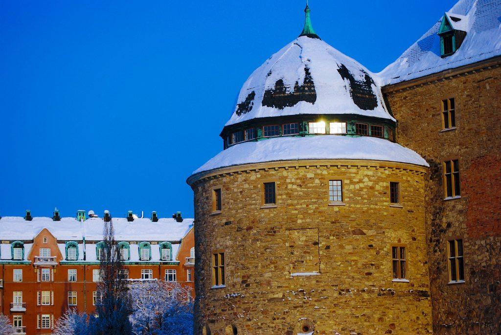 Örebro Slott - vinter - julestemning - Sverige