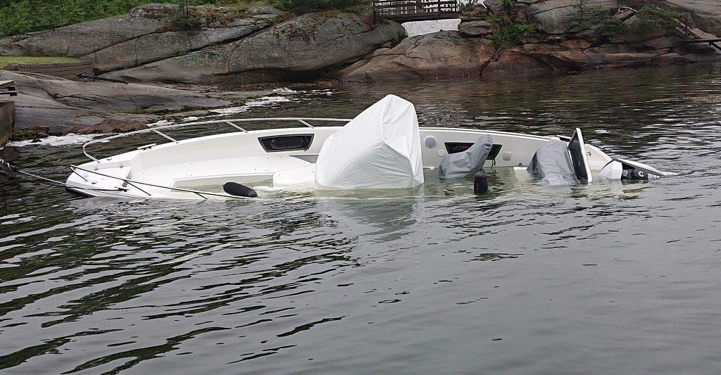 Fritidsbåt - havarert - sunket - If forsikring