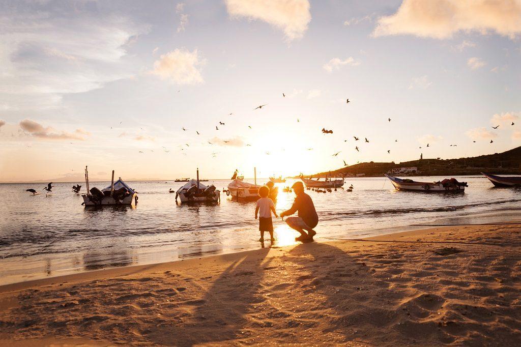 Isla Margarita - Venezuela - gutt - bestefar - solnedgang