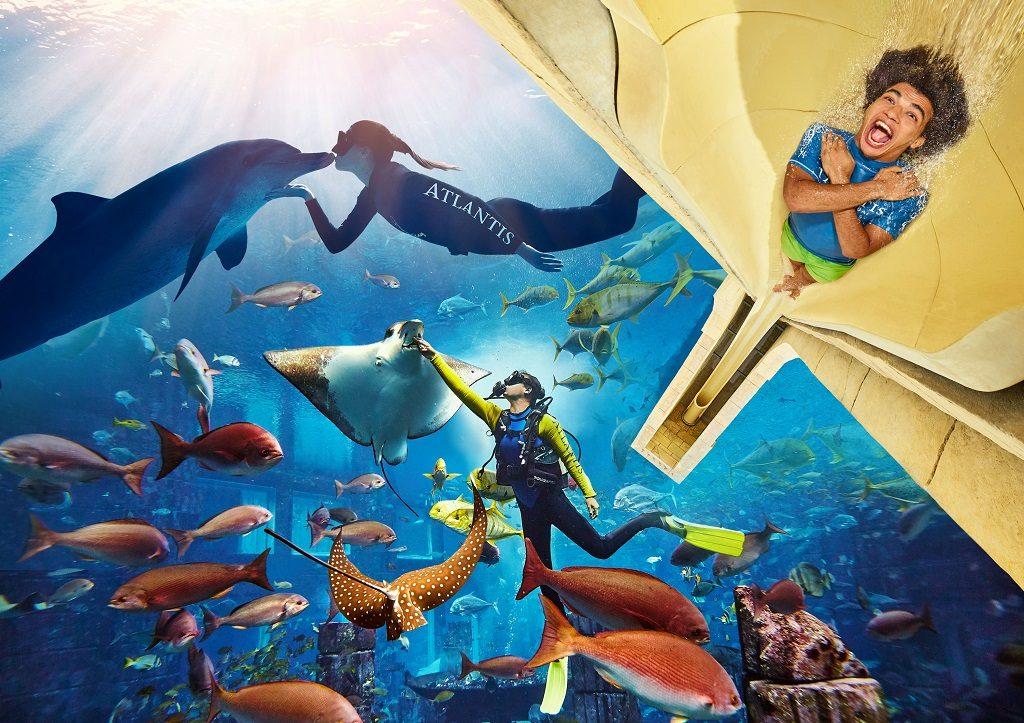 Emirates- Dubai - akvarium, Vannland - Fornøyelsespark