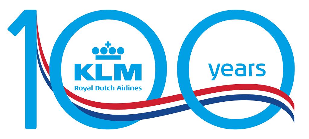 KLM 100 logo - oktober 2019 - jubileum