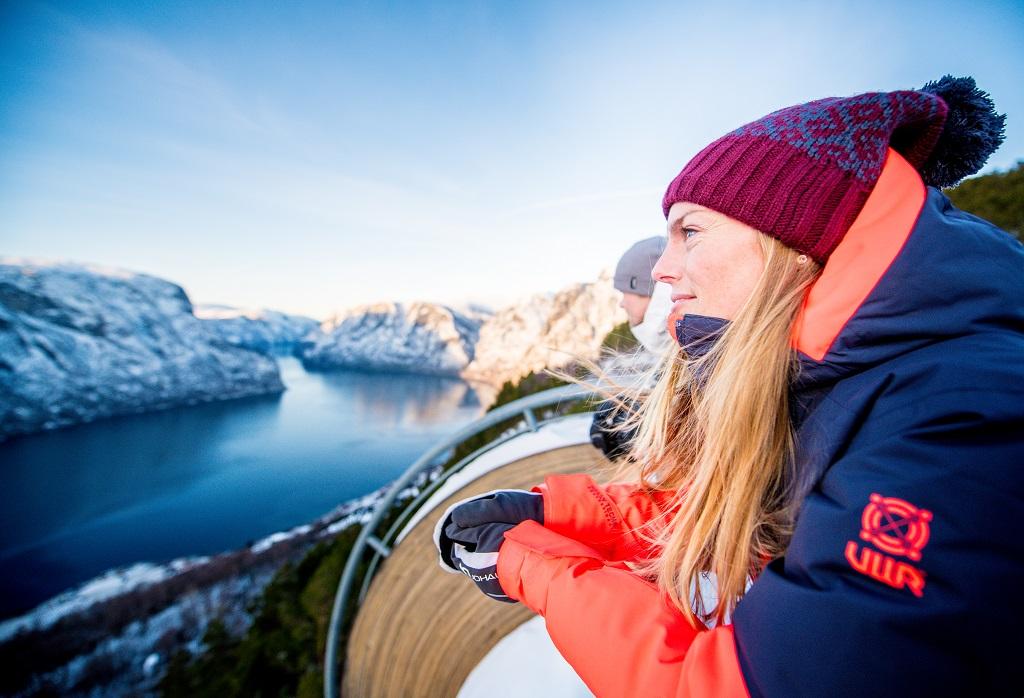 Vinter Flåm - Magishow - Stegasteinen
